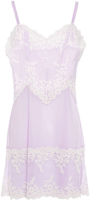 Wacoal Embroidered Stretch-lace And Tulle Chemise