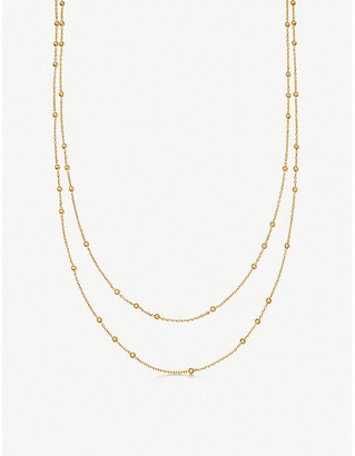 Missoma Ltd Double Chain beaded 18ct gold-plated vermeil silver necklace