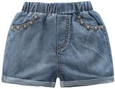 Encontrar Little Girls Rivet Pockets Cuffed Shorts