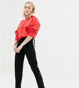 Brave Soul Petite band pants with side stripe