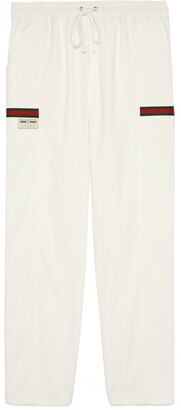 Gucci Cotton canvas pant with label