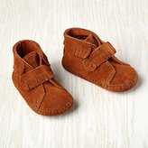 0-3 mos. Minnetonka ® Velcro ® Front Strap Bootie (Brown)