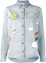 Mira Mikati printed denim shirt