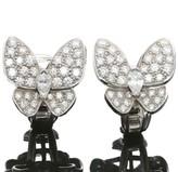 Van Cleef & Arpels White Gold Butterfly Diamond Earrings