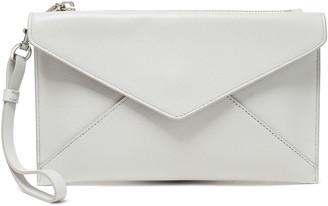 Rebecca Minkoff Pebbled-leather Envelope Clutch