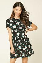 Forever 21 FOREVER 21+ Collared Floral Print Dress