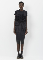 Junya Watanabe black spike front sheer apron dress