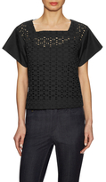 See by Chloe Eyelet Square Neck Top