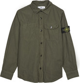 Stone Island Compass patch cotton shirt 4-14 years