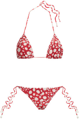 Adriana Degreas Polka-dot Triangle Bikini
