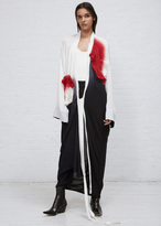 Haider Ackermann altair dip black-white + smock white smocked wrap dress