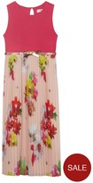 Ted Baker Girls Printed Pleat Layer Maxi Dress