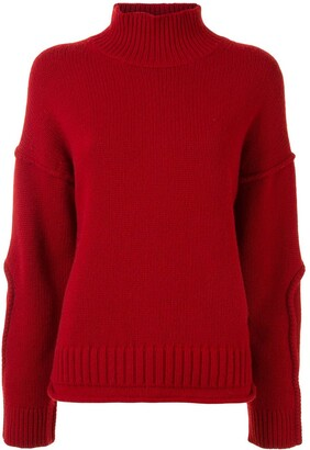 Proenza Schouler White Label Wool Cashmere Cropped Knit Sweater