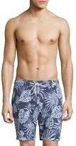 Brooks Brothers Tropical Leaf Montauk Swim Trunks