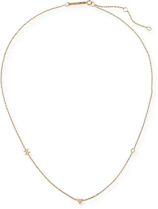 Chicco Zoe 14k Personalized 2-Initial Heart Necklace