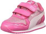 Puma Cabana Racer Glitter V Kids Sneaker, Fandango Pink-Lilac Snow, 13.5 M US Little Kid