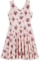 Aqua Girls' V-Neck Floral Dress, Big Kid - 100% Exclusive