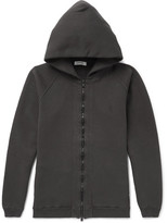 Nonnative Coach Over-Dyed Fleece-Back Cotton-Jersey Zip-Up Hoodie