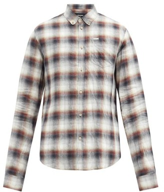 DSQUARED2 Elongated-sleeves Shadow Plaid Linen Shirt - Multi