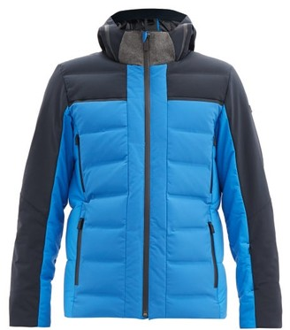 Capranea - Avaloq Hooded Quilted Down Ski Jacket - Blue