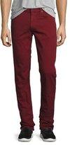 J Brand Tyler Slim-Straight Jeans, Cabernet