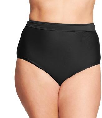 Plus Size Mazu Swim High-Waist Tummy Control Swim Briefs