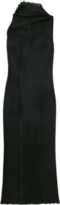 Jil Sander Pleated Sleeveless Midi Dress