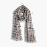 Madewell Openweave Scarf in Ennis Plaid