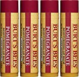 Burt's Bees 100% Natural Moisturizing Lip Balm, Pomegranate, 4 Tubes