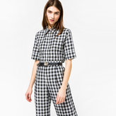 Paul Smith Women's Black And White Gingham Western Shirt