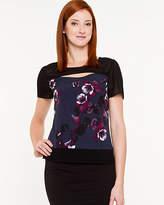 Le Château Floral Crew Neck T-shirt