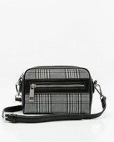 Le Château Check Print Faux Leather Crossbody Bag