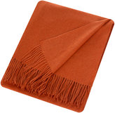 Sofia Cashmere Trentino 2 Ply Fringed Throw - Orange