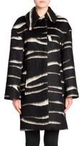Jil Sander Woolen Wave Cape Coat