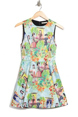 Alice + Olivia Rosalinda Box Pleat Midi Dress