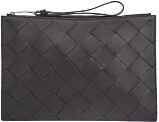 Bottega Veneta Leather Intreccio Pouch Bag