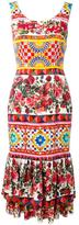 Dolce & Gabbana Mambo print peplum dress - women - Silk/Spandex/Elastane - 42