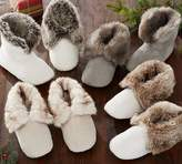 Pottery Barn Faux Fur Booties