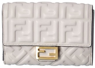Fendi Ff Leather Continental Wallet