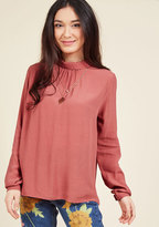 ModCloth Exemplary Ensemble Long Sleeve Top in M