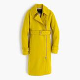 J.Crew Belted zip trench coat in wool melton