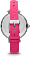 Fossil Heather Three Hand Leather Watch - Pink