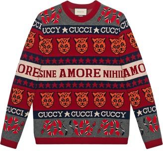 Gucci Symbol jacquard jumper