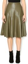 J.o.a. Moss Faux Leather Skirt