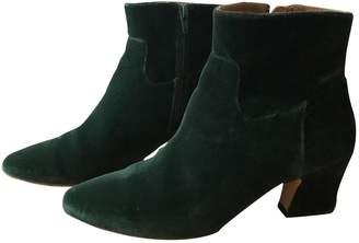 Miista Green Velvet Ankle boots