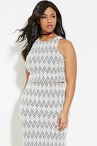 Forever 21 FOREVER 21+ Plus Size Geo-Patterned Top