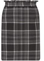 Dorothy Perkins Womens Grey Checked Frill Mini Skirt- Grey