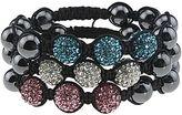 JCPenney Hematite & Crystal Bead Set of 3 Bracelets
