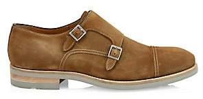 Saks Fifth Avenue Suede Double Monk-Strap Shoes