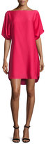 Milly Boat-Neck Dolman Shift Dress, Rose